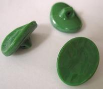 Glasknoop - groen 19 x 14 mm