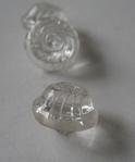 Glasknoop - transparant/tulbandvorm 13 mm