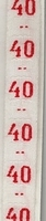 Maatlint - rood maat 40