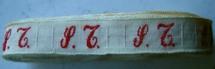 1 Initiaal - Lint S.T. Lint 1 cm breed