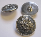 Silber-Knopf 29 mm