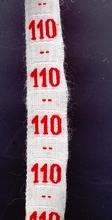 Maatlint - rood maat  110