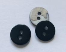 Parelmoerknoop - zwart 11 mm