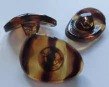 Glasknoop - bruin 18 x 13 mm