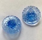 Button - Transparantblue 22 mm