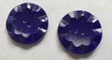 Button - blue 32 mm
