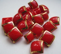 Button-red 14 mm