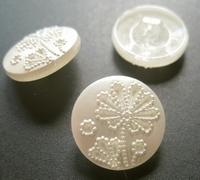 Glasknoop - wit/bruidskleur 18 mm