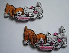 1 hond en poes 20 x 35 mm