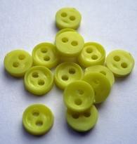 Poppenknoop - lichtgeel 6 mm