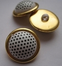Gold -button 25 mm