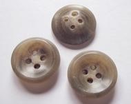 Kostuumknoop - grijsbeige 14 mm