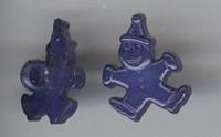Clown - d.blauw 17 mm breed