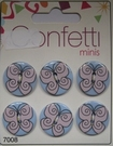 6 Buttons - Confettie 21 mm