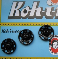 Press buttons - Black 14 mm