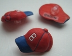 Baseball Caps rood 20 x 15 mm