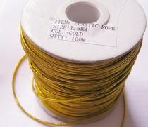 1 Rol Elastiek-Geel/Goud (100 mtr) 1,5 mm