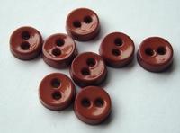 Poppenknoop - bruin nature 6,5 mm