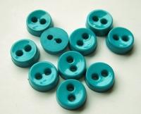 Poppenknoop - blauwgroen Ocean 6,5 mm
