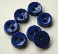 Poppenknoop - donkerblauw ocean 6,5 mm