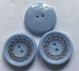 Button- Blue 19 mm
