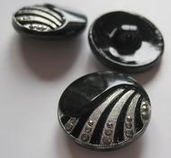 Knopf (Silber/Schwarz farbe) 23 mm