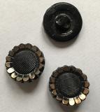 Button - Black - gold color 19 mm