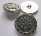 Silber-Knopf 28 mm