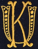 Monogram U.K. 4 x 3 cm
