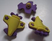 Vliegtuig - geel 20 mm