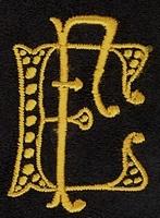 Monogram E.F. 4 x 3 cm