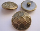 Gold-button 15 mm