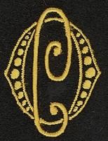 Monogram O.C. 4 x 3 cm