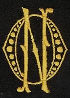 Monogram O.N. 4 x 3 cm