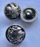 Grey-Button 17,5 mm