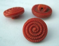 Button-red 13 mm