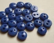 6 knoopjes - blauw 5 mm