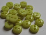 6 knöpfe -Hellgrün 5 mm