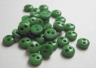 6 mini buttons - green 5 mm