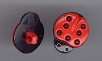 Lieveheerbeestje - rood 18 x 15mm
