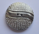 Silber-Knopf 25 mm