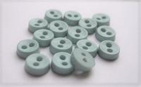 Poppenknoop - lichtblauw clean 6,5 mm