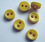 Poppenknoop - geel 6,5 mm