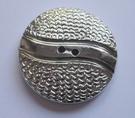 Silber-Knopf 50 mm