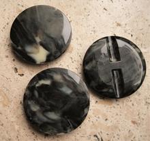 Zilverkleurknoop 34 mm