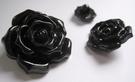 Bloem - Knoop / zwart 24 mm