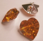 Herz - orange 15 x 14 mm