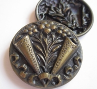 1 Button - Antique Button 32 mm